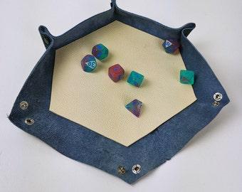 Custom leather dice tray