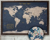 """Push Pin Map - Executive Style 13x19""""  
