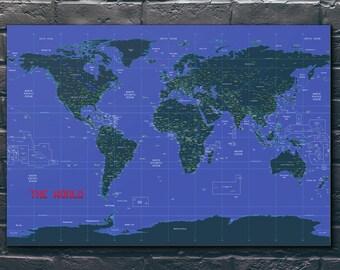 Flight Routes World Map Air Traffic Flight Patterns   Etsy