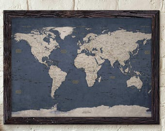 World map poster etsy gumiabroncs Images