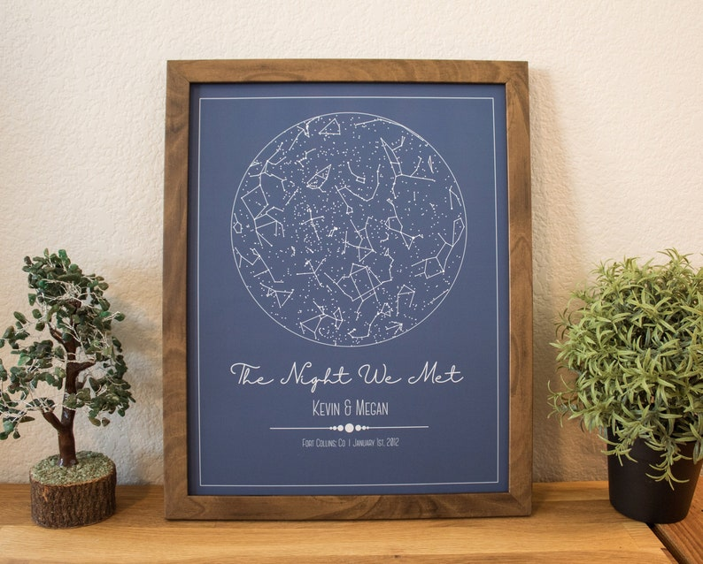 Star Map By Date And Location.Custom Star Map Constellation Gift Night Sky Custom Date Etsy