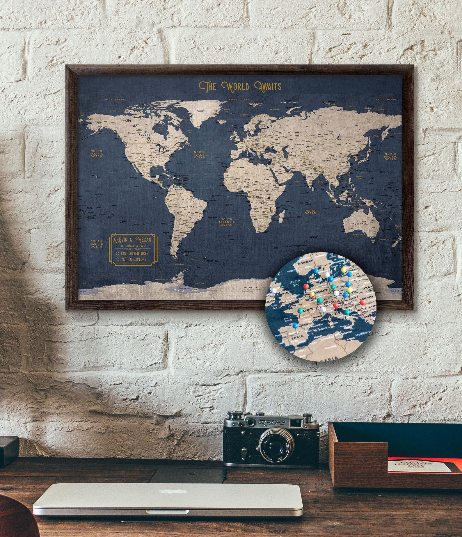Push Pin Travel Map: Gifts for Mom