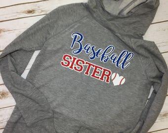 Baseball Sister Hoodie Jacket youth