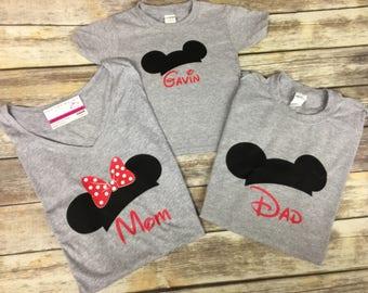 Disney Mickey Minnie Family Shirt