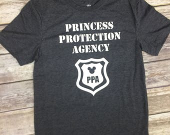 Princess Protection Agency disney vacation mens shirt for disney world