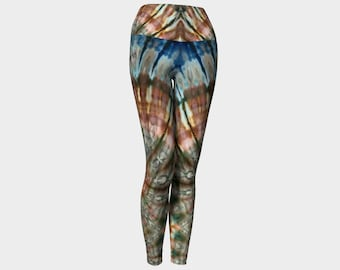 641d54aea420dd Earth spiral tie-dyed foldover leggings | groovy boho hippie psychedelic yoga  pants for festival rave acro burning man sexy flattering