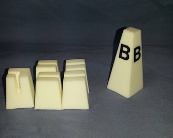 Dressage marker cone and board holders for traditional scale model horses.