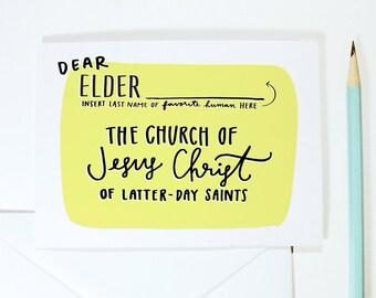Dear Elder Card