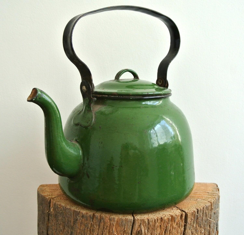 Schäbige schicke Tee Wasserkocher alte Tee Kanne Blume Display | Etsy