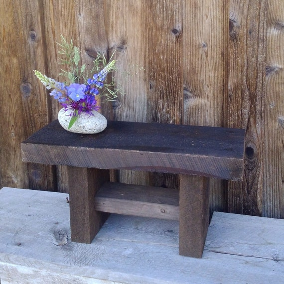 Pleasant Rustic Wooden Bench Small Wooden Bench Book Stand Rustic Small Table Wooden Plant Stand Rustic Furniture Rustic Patio Furniture Gmtry Best Dining Table And Chair Ideas Images Gmtryco