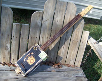 Silver Trim Fretless Punch 3 String Guitar