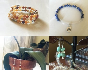 Custom Personalized Jewelry, Unique Gift ideas, Memories,  Anniversary, Birthdays, Birthstones, Healing Stones, Leather, NatureinThings