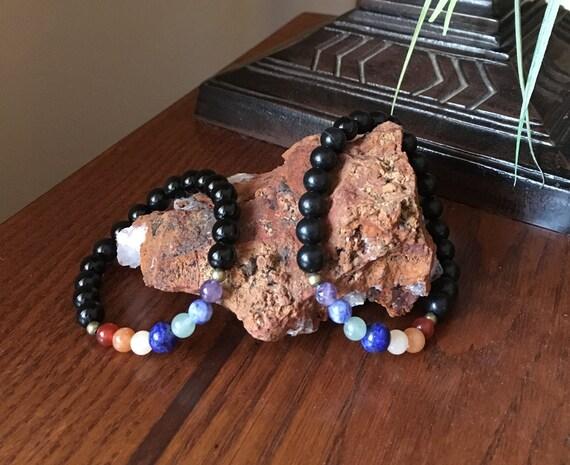 Chakra Bracelet 7 Types Of Semi Precious Gemstones To Etsy