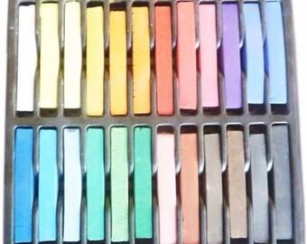 Set of 24 soft pastels