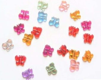 Set of 20 Butterfly embellishments