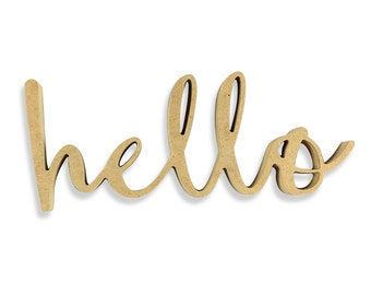 Hello Sign   Hello Wood Sign   Unfinished Word Cutout   DIY Words   Word Cutouts   Word Cut Out