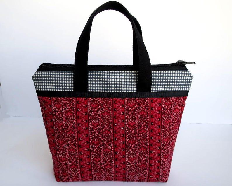 Red Handbag Fabric Handbags Mini Handbags Handmade Bags  fab6a94427b19