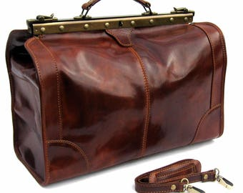 970e93009b1c Leather Doctors Bag made in Italy