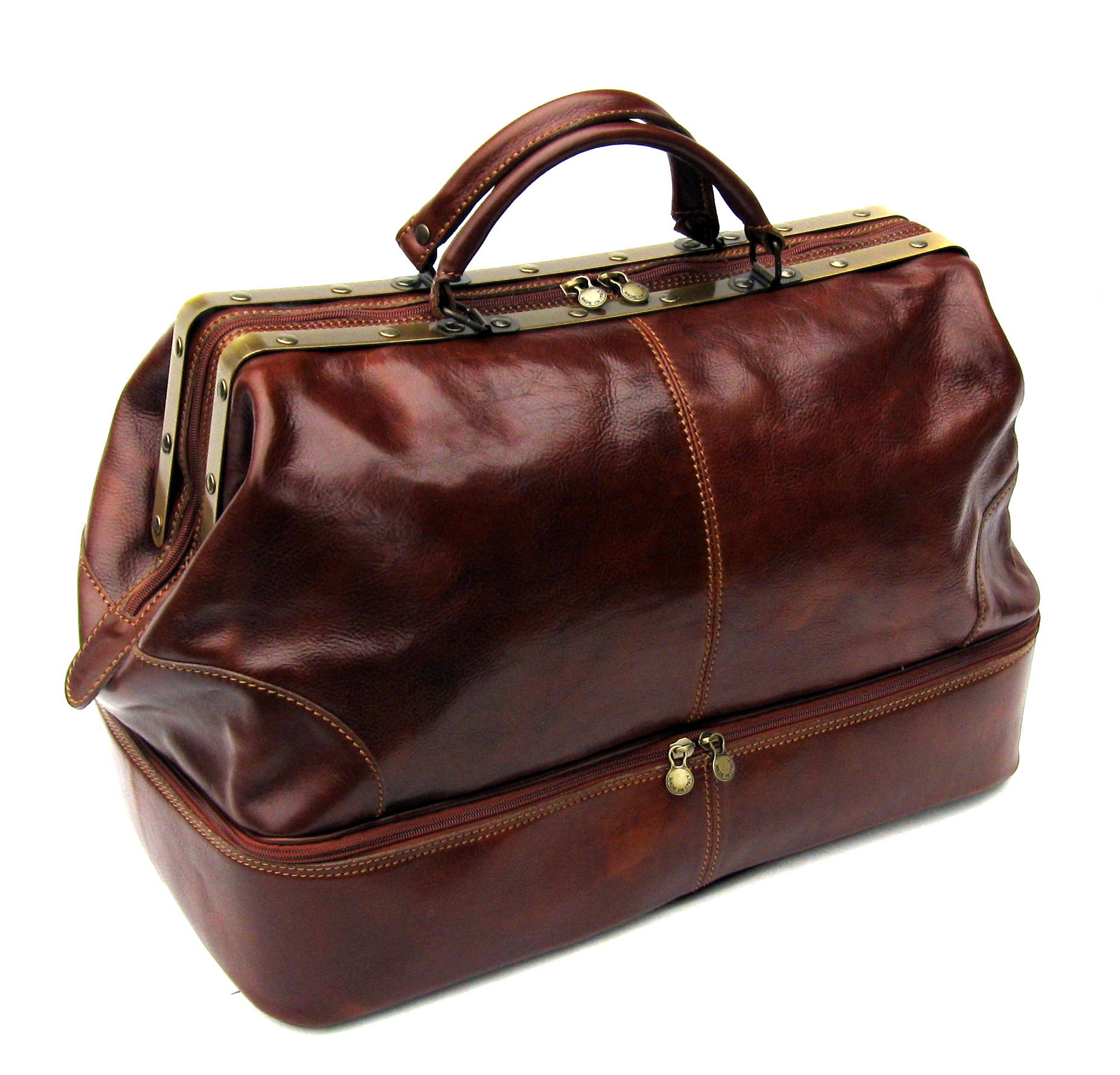 c7c20db26b0b Leather Double Decker Cargo Bag