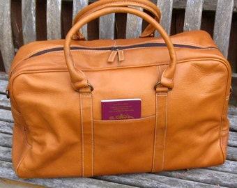 Camden LeatherWorks Weekender Cabin-sized Duffle Bag