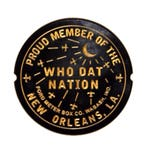 "Large New Orleans Saints Nation Wood Carved Sign (15""x15"")"