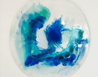 CUSTOM | Resin Art Painting Abstract Round Porthole