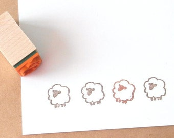 Small Sheep Rubber Stamp