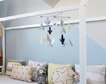 CACTUS mobile, nordic nursery, cactus BABY MOBILE, cactus nursery, baby crib decor, modern baby mobile, boho baby room, Baby shower gift