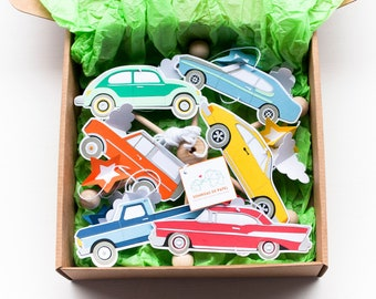 Vintage cars mobile baby. Classic Cars theme nursery decor. New born gift. Baby crib mobile. Cars nursery mobile