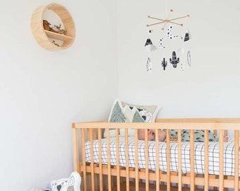 NORDIC mobile, nordic nursery mobile, scandinavian mobile, Moon mobile, nordic babyroom, wild free baby mobile, monochrome nursery