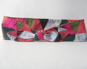 f547460d215 Daily adult headband wrap in triangles print