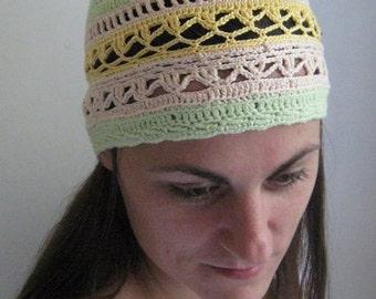 Cappello Donna Uncinetto Berretto Cappello Di Verde Etsy