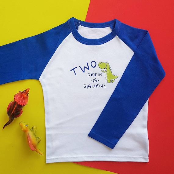 Your Name asaurus Personalised Dinosaur Baby Boys t-Shirt