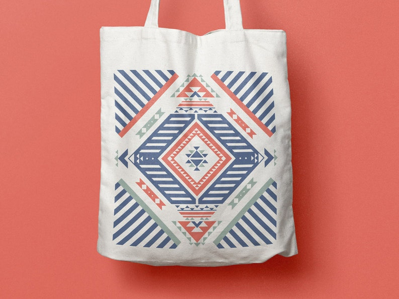878f714db7 Tote Bag Navajo sac en coton sac en toile sac de courses | Etsy