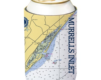 Altered Latitudes Puerto Rico Chart Standard Can Cooler 4-Pack