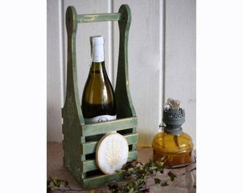 Wine case Wine holder Wine rack Bottle holder Wine gift Wooden bottle holder Rustic wine box Wine bottle holder Wood wine rack Wedding gift