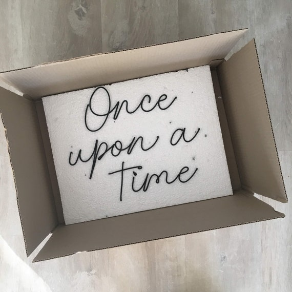 Handmade wire words - Once upon a time - bedroom, living room, wall art,  wall sign, wall decor - Pinterest look
