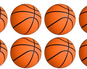 EDIBLE Basketball Wafer or Icing Cupcake Toppers