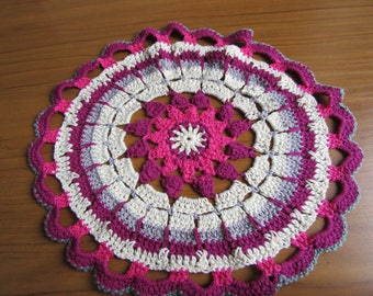 Prachtige Drijvende Lotus Haak Mandala Kleedje Tabel Mat Pinks Etsy
