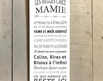 Grand verre 3D Plaque Murale Grand-parent Mother/'s Day Mamie Cadeau
