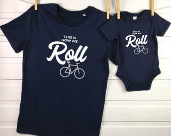 c39c4ac1 Cycling Parent And Child T Shirts. Father and Son T Shirt set. Bike Lover.