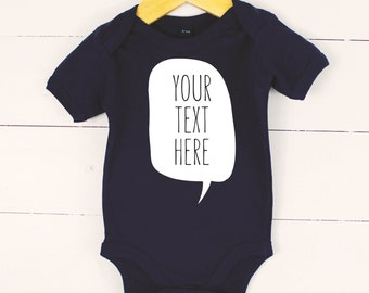 Personalised Baby Grow Vest Custom Shower Gift Any Text Girl Boy Name Messages