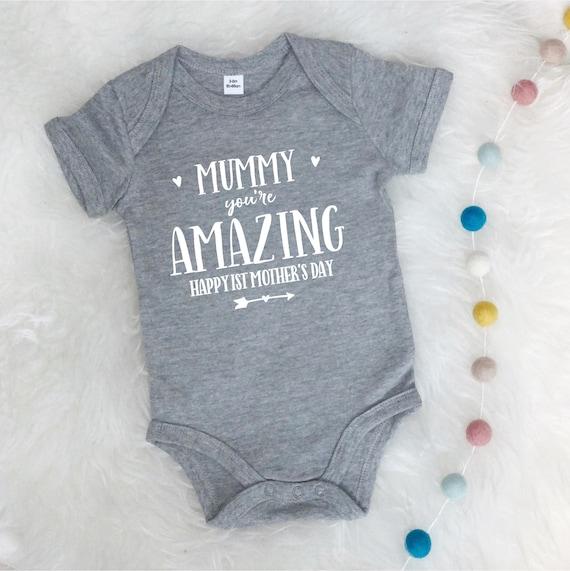 0-3 meses Chaleco de beb/é para el primer d/ía de la madre Happy First