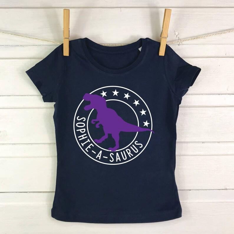 8509f384 Kids dinosaur shirt personalised dinosaur t shirt dinosaur | Etsy