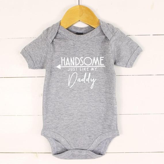 Schöne Neue Papa Baby Geschenk Vatertag Geschenk Baby Sohn Spezielle 1 Tag Baby Outfit Hübscher Genau Wie Mein Papa Baby Weste Väter