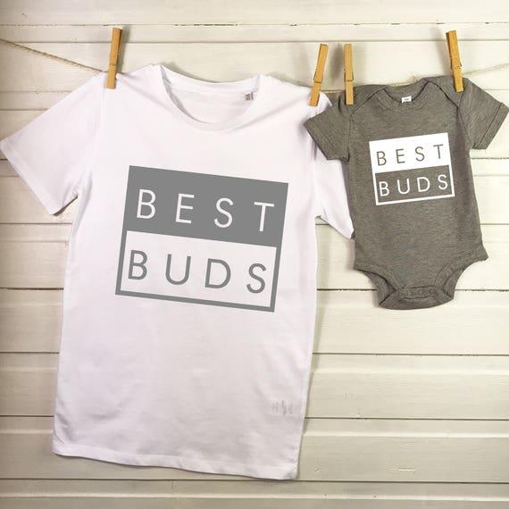 Je faire de jolies babies bébé papa Ensemble correspondant Baby Grow T Shirt père fils