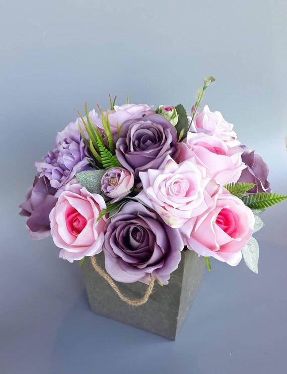 Real Touch Bouquet De Boite A Fleurs Fleurs En Boite Fleur Etsy