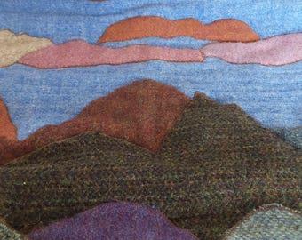 Harris Tweed Art picture panel SALE item reduced