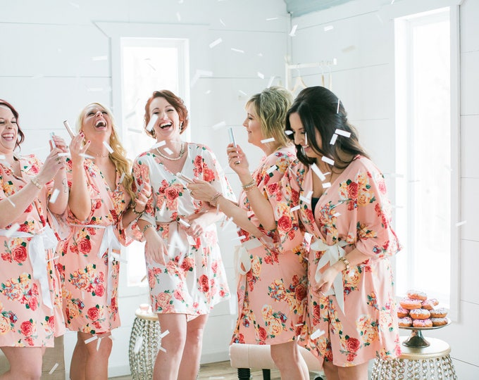 Featured listing image: CUSTOM Bridesmaid Robes, Custom Floral Robes, Bridal Robes, Bridal Shower