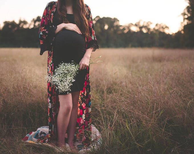 Featured listing image: CUSTOM Maternity Gown, Maxi Length Robe, Maternity Photos